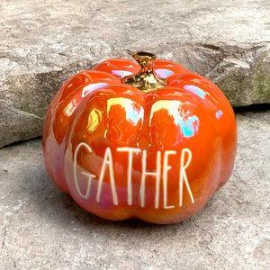 Rae Dunn GATHER Iridescent Medium Pumpkin